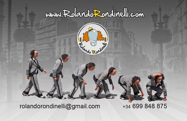 Diseño tarjeta visita rolando rondinelli