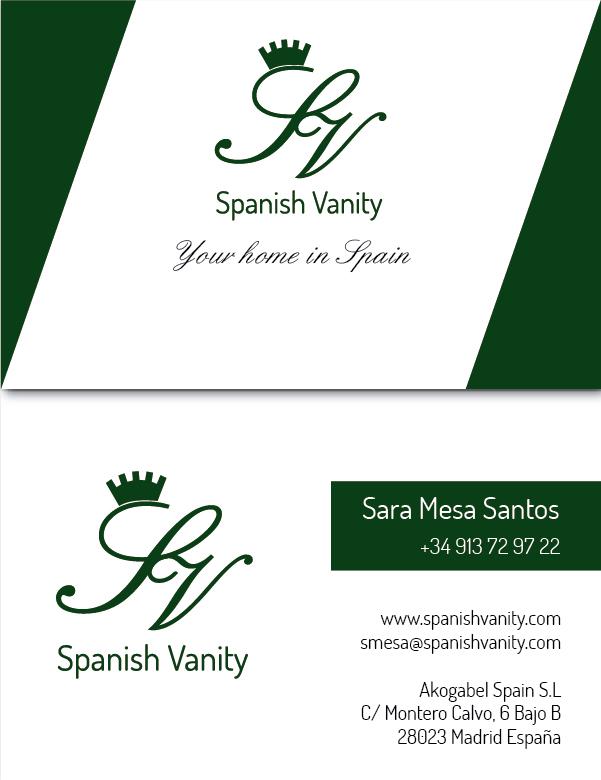 DiseñoTarjeta visita Spanish vanity