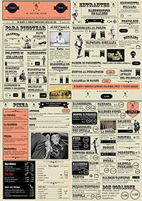 Diseño de carta restaurante dos caras