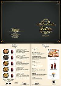 Diseño emeye carta restaurante texto imagenes