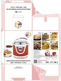 Diseño gráfico de Packaging olla gm4u modelo Dplus