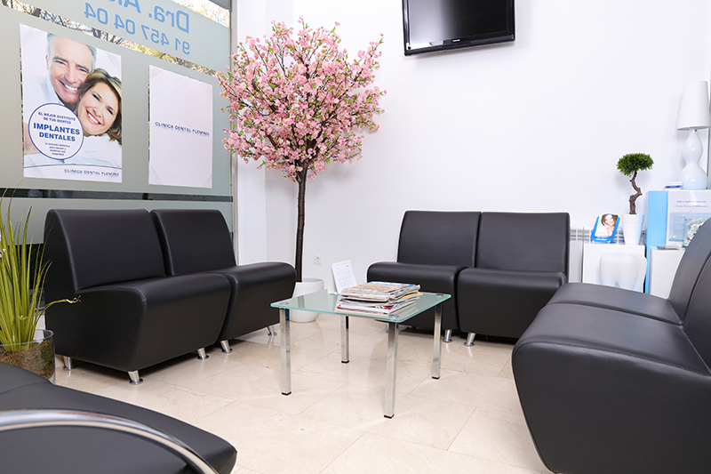 Fotografia negocios clínica dental sala de espera