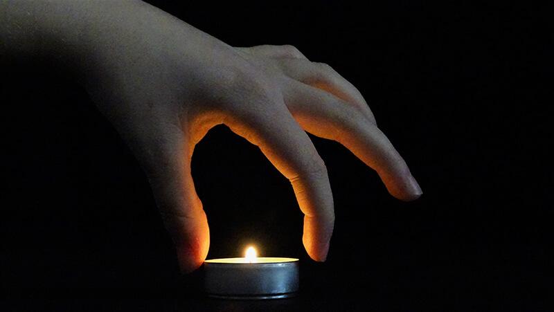Curso fotografía Emeye fondo luces y velas