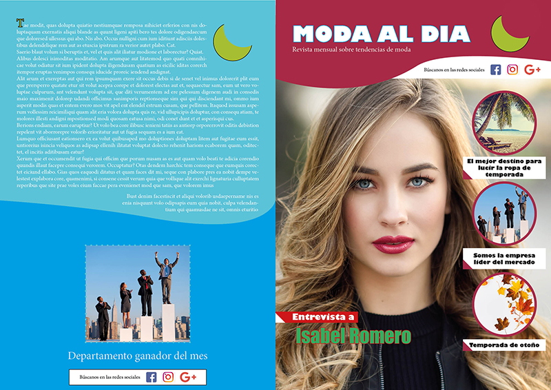 Portada revista con indesign