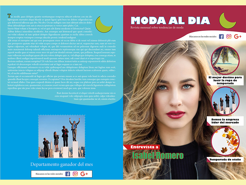 Portada revista curso indesign