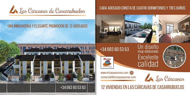 Diseño de Flyer para inmobiliaria Las Carcavas