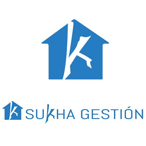 Diseño de logotipo para inmobiliaria sukha gestión