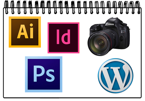 Curso fotografia illustrator indesign wordpress photoshop