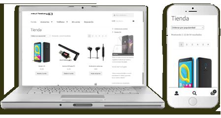 diseño web tienda online mobil-technologies